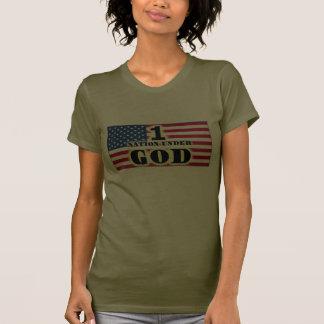 Uma nação sob a camisa das mulheres do deus camisetas