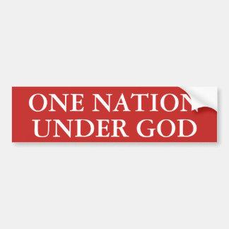Uma nação sob o deus adesivo para carro
