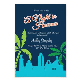 Uma noite em Havana Convite 8.89 X 12.7cm