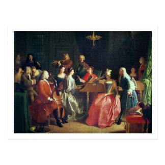 Uma noite musical (óleo em canvas) cartão postal