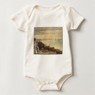 Uma noite no acampamento grande por Georges Seurat Body Para Bebê