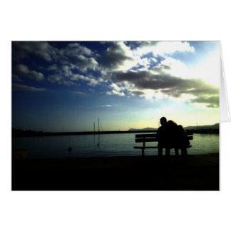 Uma noite romântica cartão comemorativo
