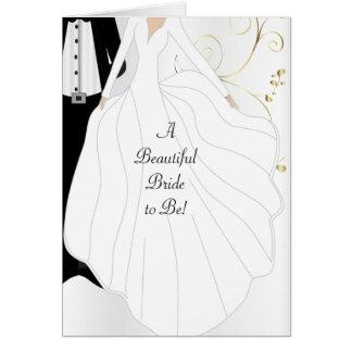 Uma noiva bonita a ser cartão dos parabéns