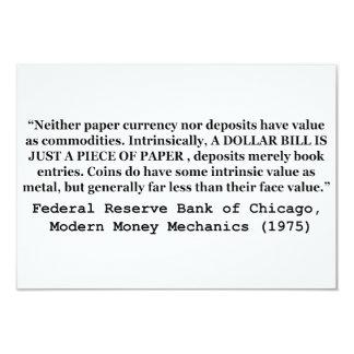 Uma nota de dólar é apenas um pedaço de papel convites