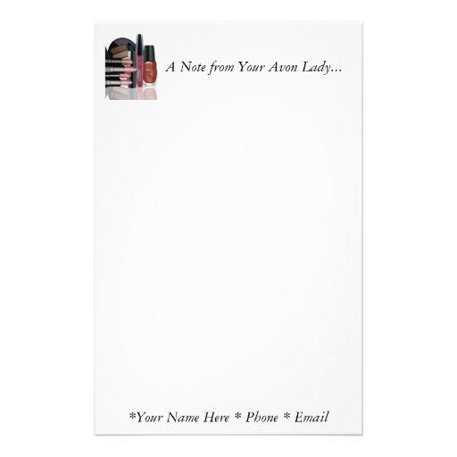Uma nota de sua senhora Papel de carta de Avon Papelaria Personalizada