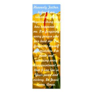 Uma oração para a paz cartão de visita skinny