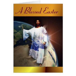 Uma páscoa abençoada cartão comemorativo