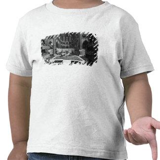 Uma perspectiva da igreja escolar do interior camisetas