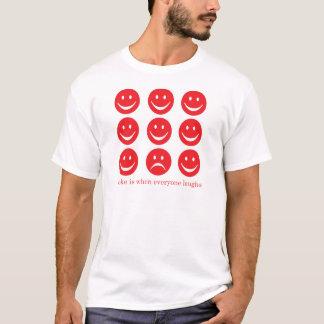 Uma piada é quando todos ri camiseta