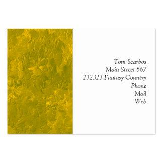 uma pintura da cor amarela cartao de visita