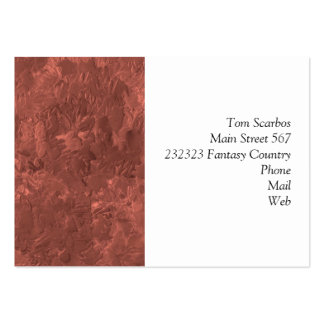 uma pintura da cor bronze cartao de visita