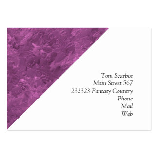 uma pintura da cor cor-de-rosa cartões de visita