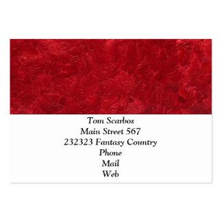 uma pintura da cor vermelha cartão de visita