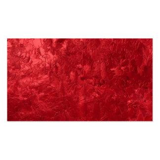 uma pintura da cor, vermelha cartao de visita