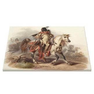 Uma pintura da vida de umas canvas Blackfoot do