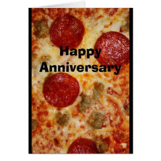 Uma pizza meu coração pertence-lhe cartão do