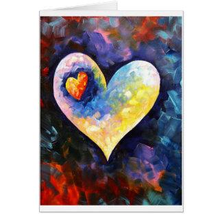 Uma pulsação do coração afastado cartão comemorativo
