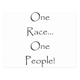 Uma raça, pessoas uma! cartão postal