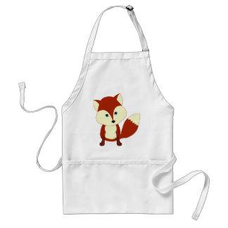 Uma raposa vermelha bonito avental