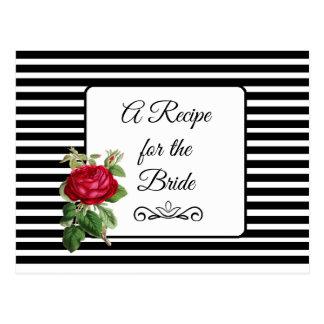 Uma receita para o cartão da receita do casamento