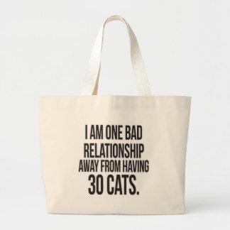 Uma relação má ausente sacola tote jumbo
