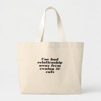 Uma relação má longe de possuir 30 gatos bolsas para compras