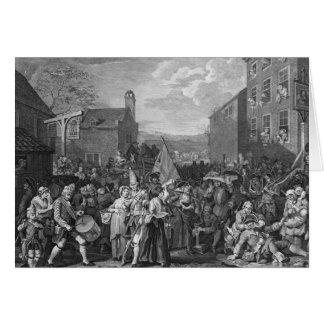 Uma representação do março das guardas cartão comemorativo