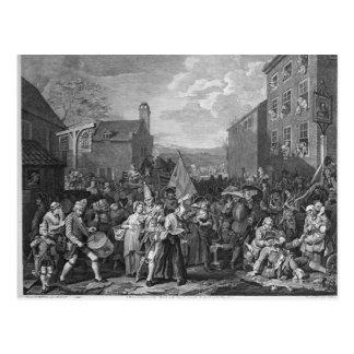 Uma representação do março das guardas cartão postal
