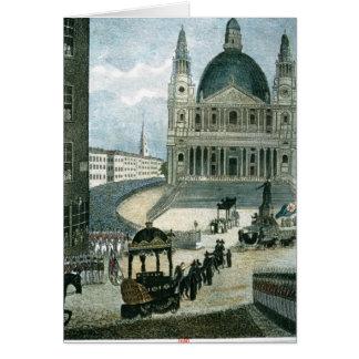 Uma representação exata do carro fúnebre grande cartões