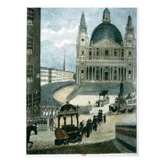 Uma representação exata do carro fúnebre grande cartão postal