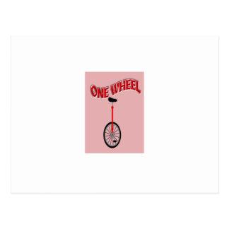 Uma roda engraçada cartão postal