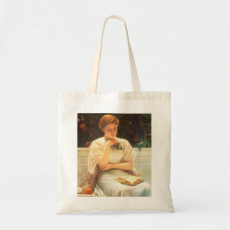 Uma sacola da leitura da menina bolsa para compra