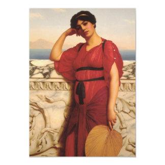 Uma senhora clássica Pintura Convite Personalizados