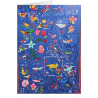 Uma tapeçaria do cartão de cumprimentos dos