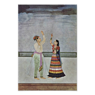 Uma tempestade aproxima-se por Indischer Maler Um  Poster
