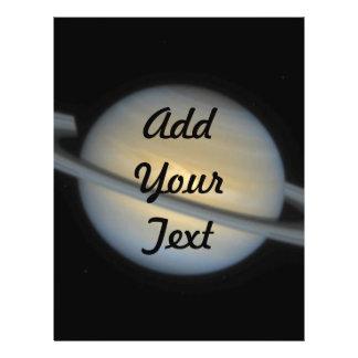 Uma tempestade Seta-Dada forma de Saturn Panfleto Personalizados