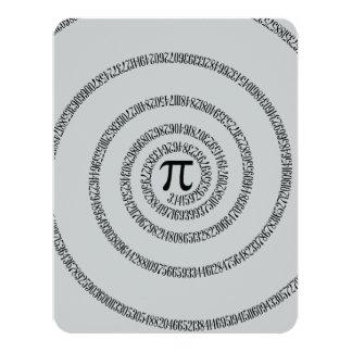 Uma torção do clique do Pi personaliza para mudar Convite 10.79 X 13.97cm