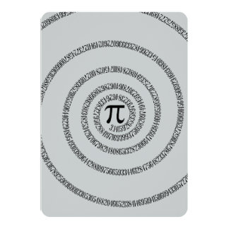 Uma torção do clique do Pi personaliza para mudar Convite 12.7 X 17.78cm