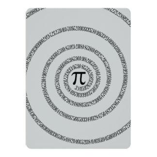 Uma torção do clique do Pi personaliza para mudar Convite 16.51 X 22.22cm