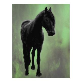 Uma tranquilidade dos cavalos papel de carta