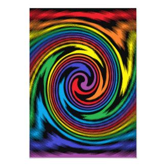 Uma turbulência colorida convite 12.7 x 17.78cm