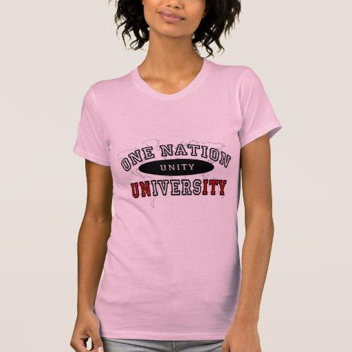 Uma universidade da nação camisetas