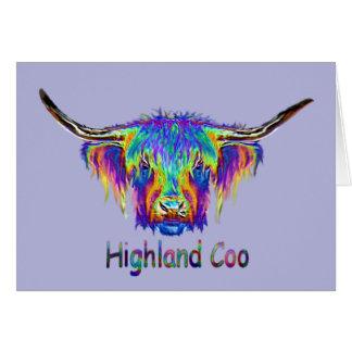 Uma vaca colorida bonita cartão comemorativo