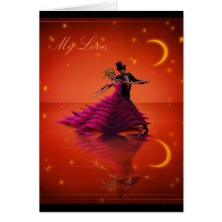 Uma valsa vermelha cartão comemorativo