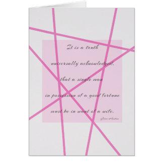 Uma verdade universal cartão de nota