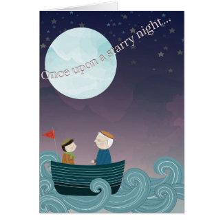 Uma vez em cima de um cartão da noite estrelado