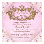 Uma vez primeiro aniversario da princesa convite quadrado 13.35 x 13.35cm