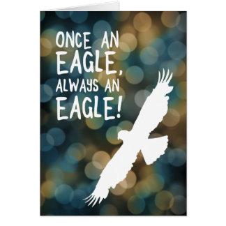 uma vez uma águia sempre uma águia cartão