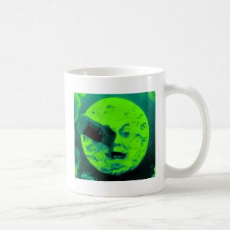 Uma viagem à lua (Aqua Sci retro marinho Fi) Canecas
