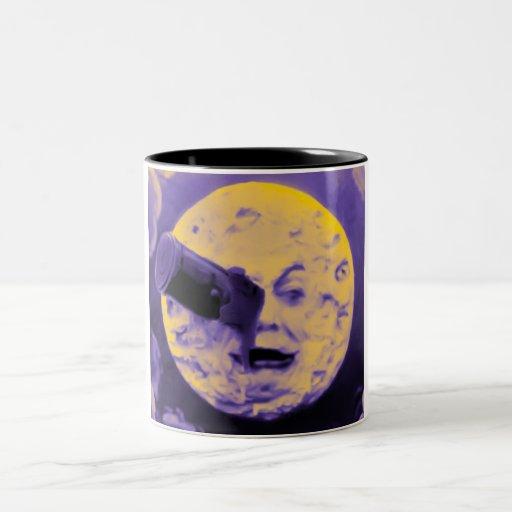 Uma viagem à lua (poeira de papel efervescente rox caneca